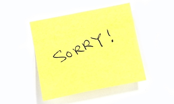 How to apologize at work dont justify leader snips the blog sorry apologize at work ccuart Gallery